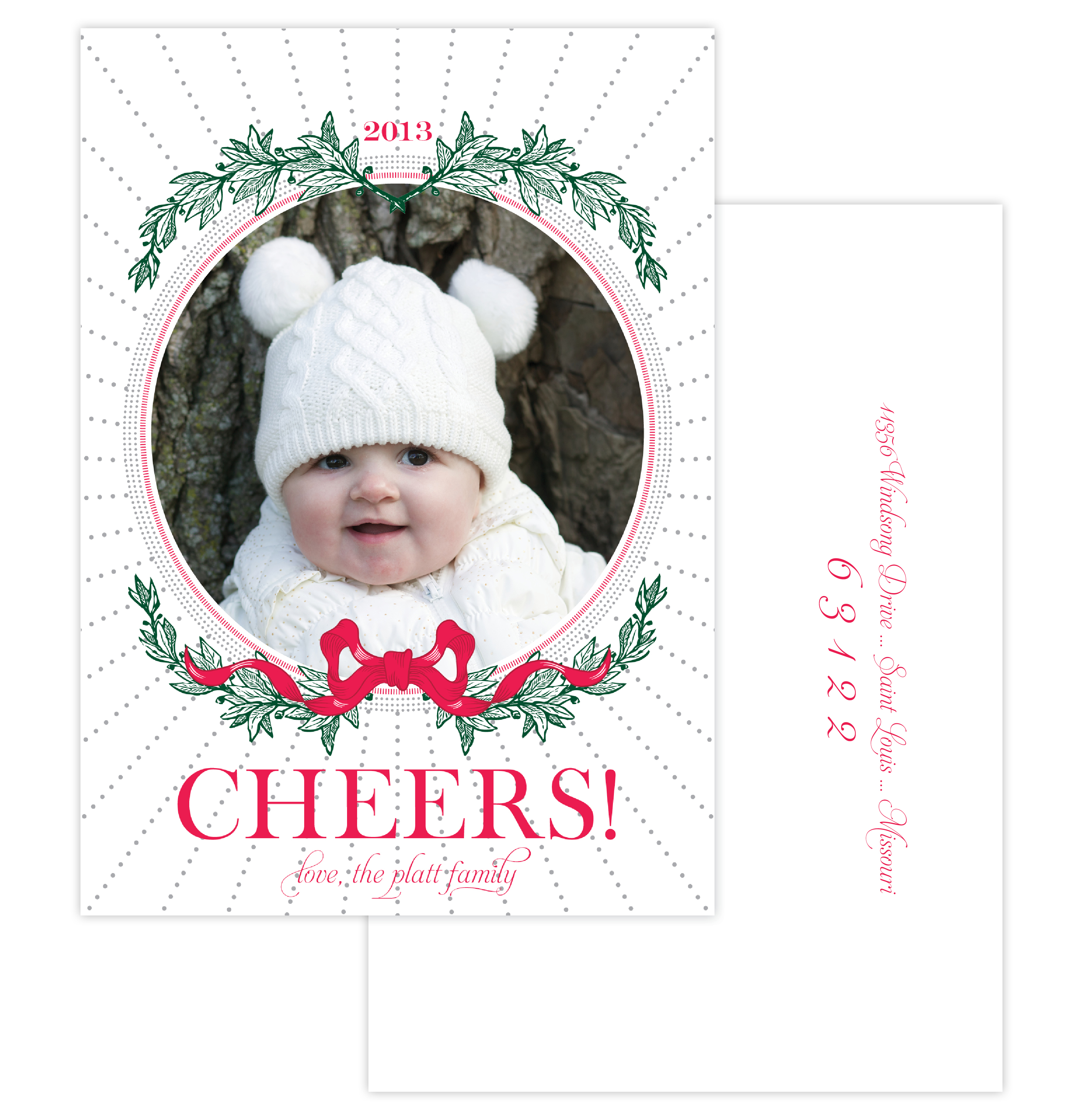 Festive Cheer Holiday Photo Card