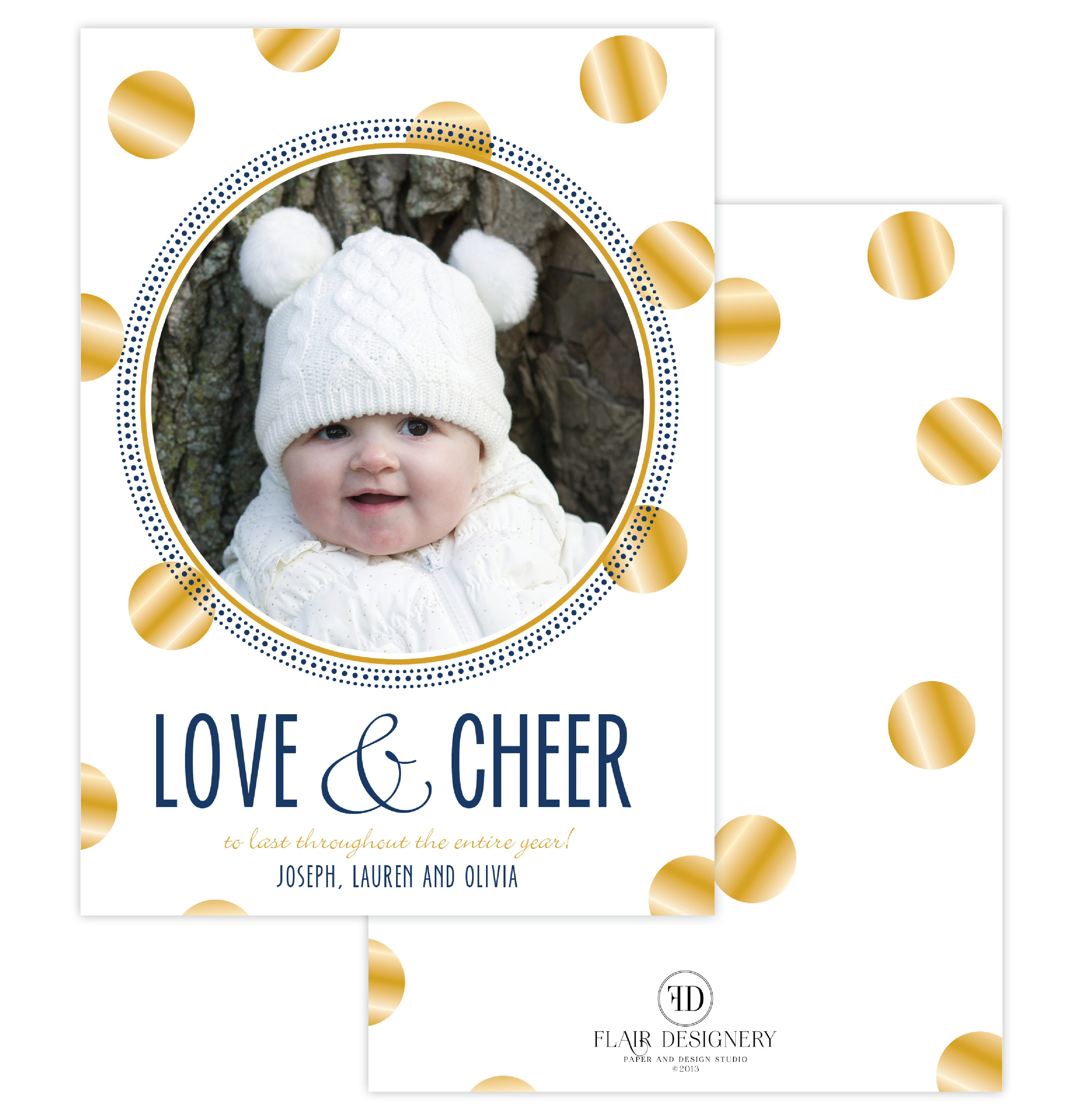 Glad Tiding Holiday Photo Card
