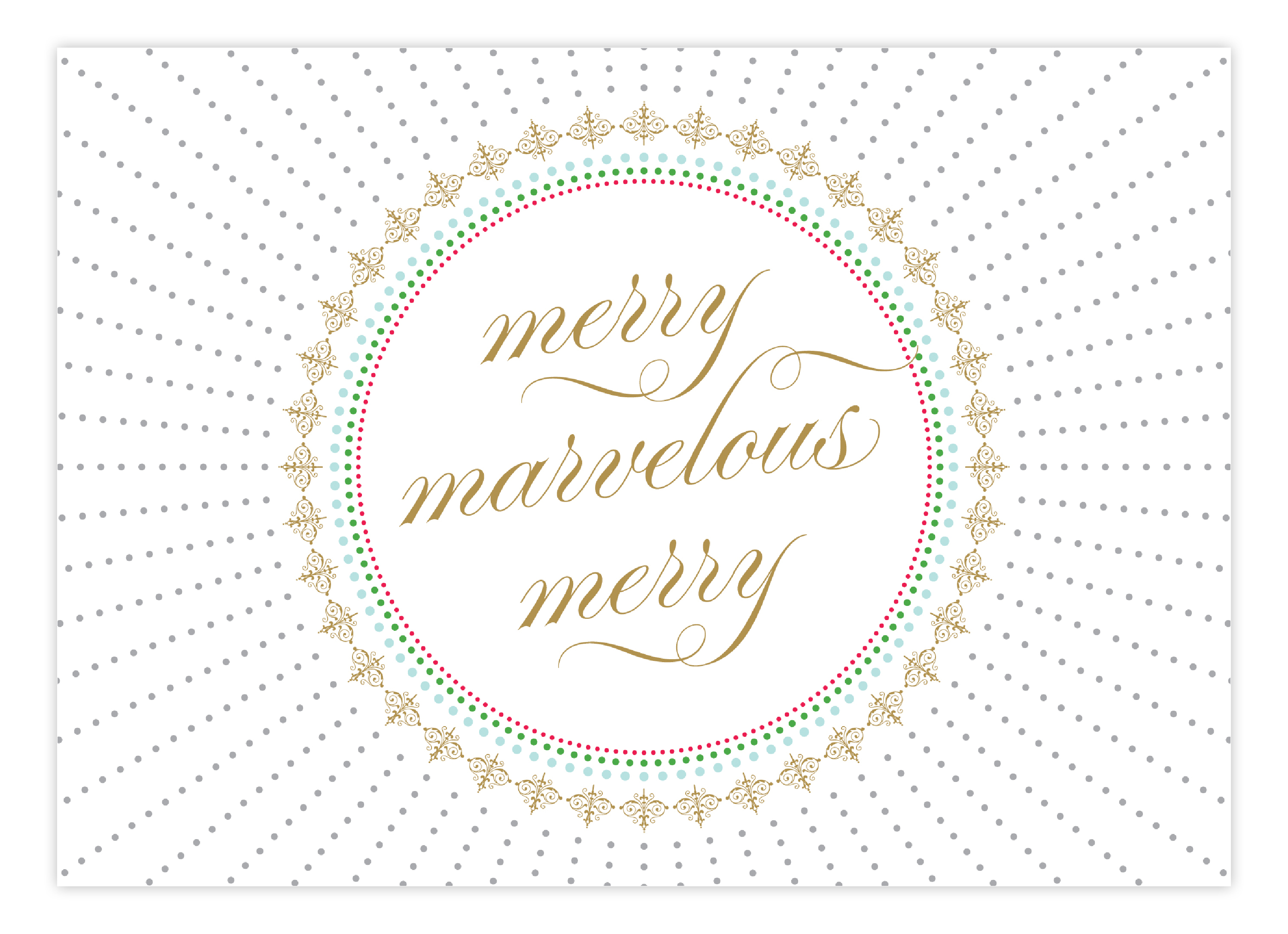 Merry Marvelous Greeting Card