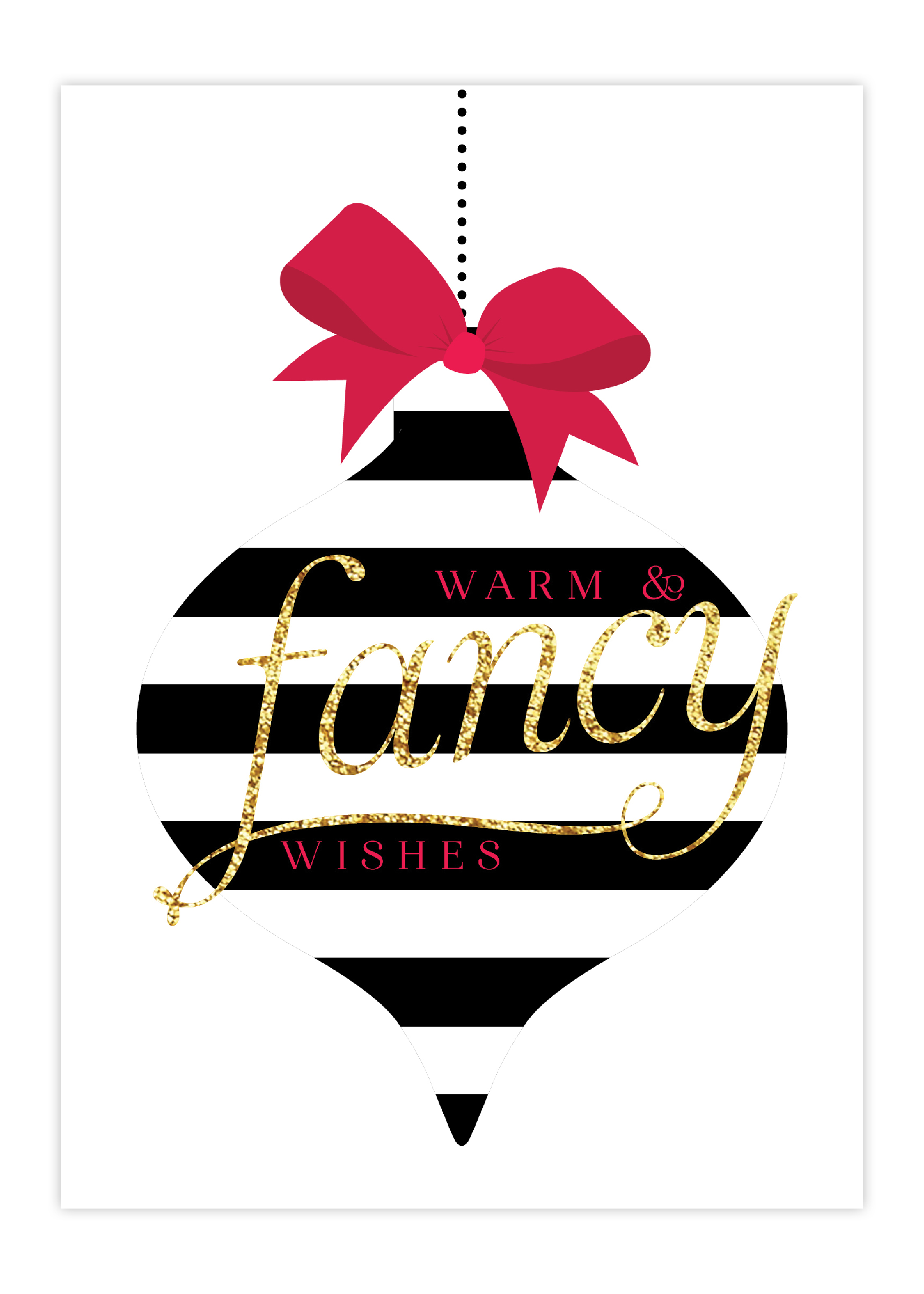 Merry Fancy Greeting Card
