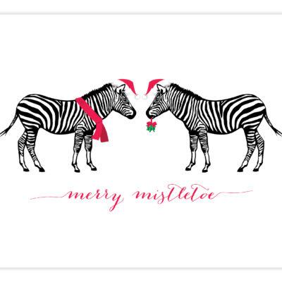 Cheerful Zebra Greeting Card