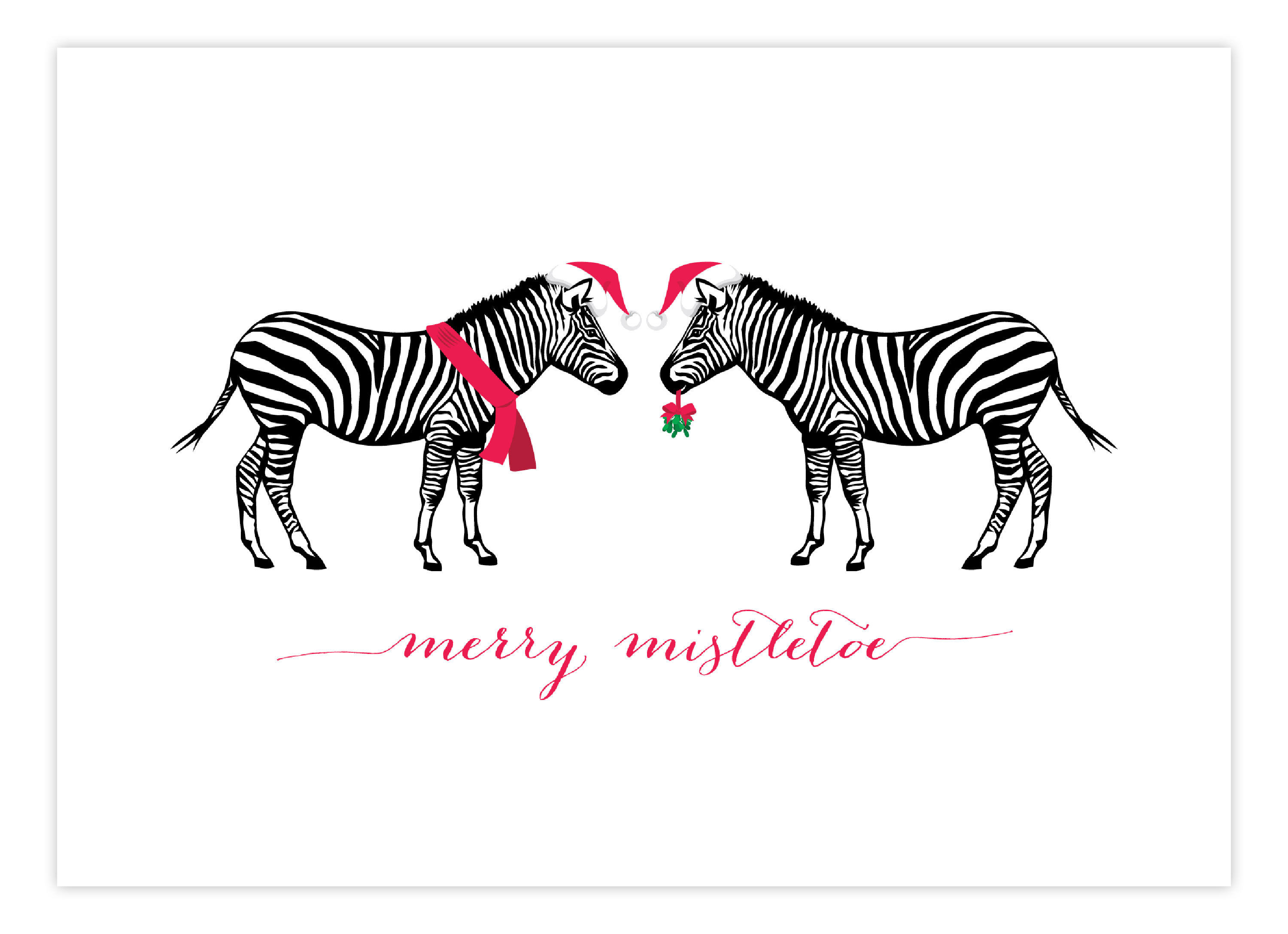 Cheerful Zebra Greeting Card