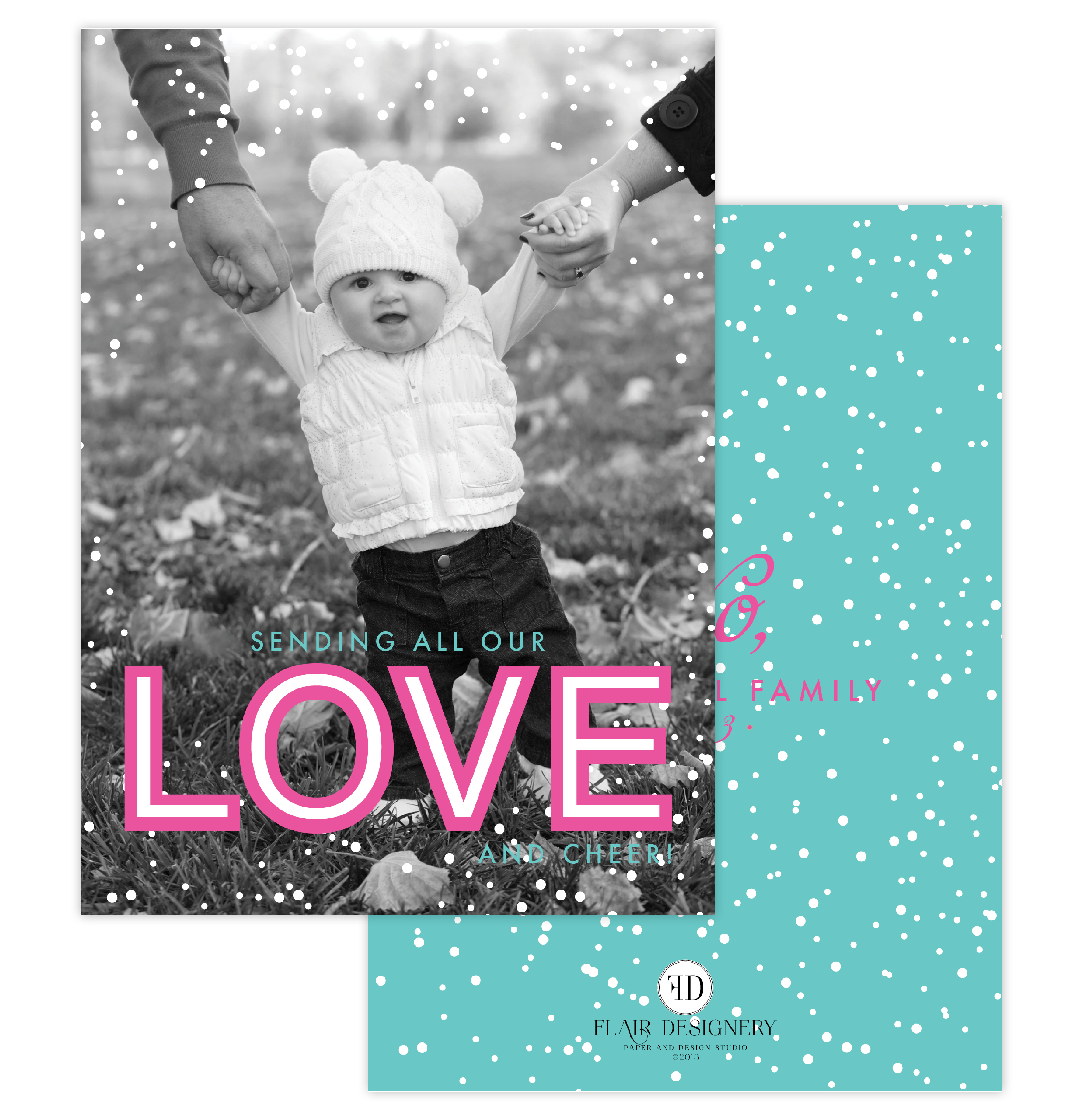 Sending Love Holiday Photo Card