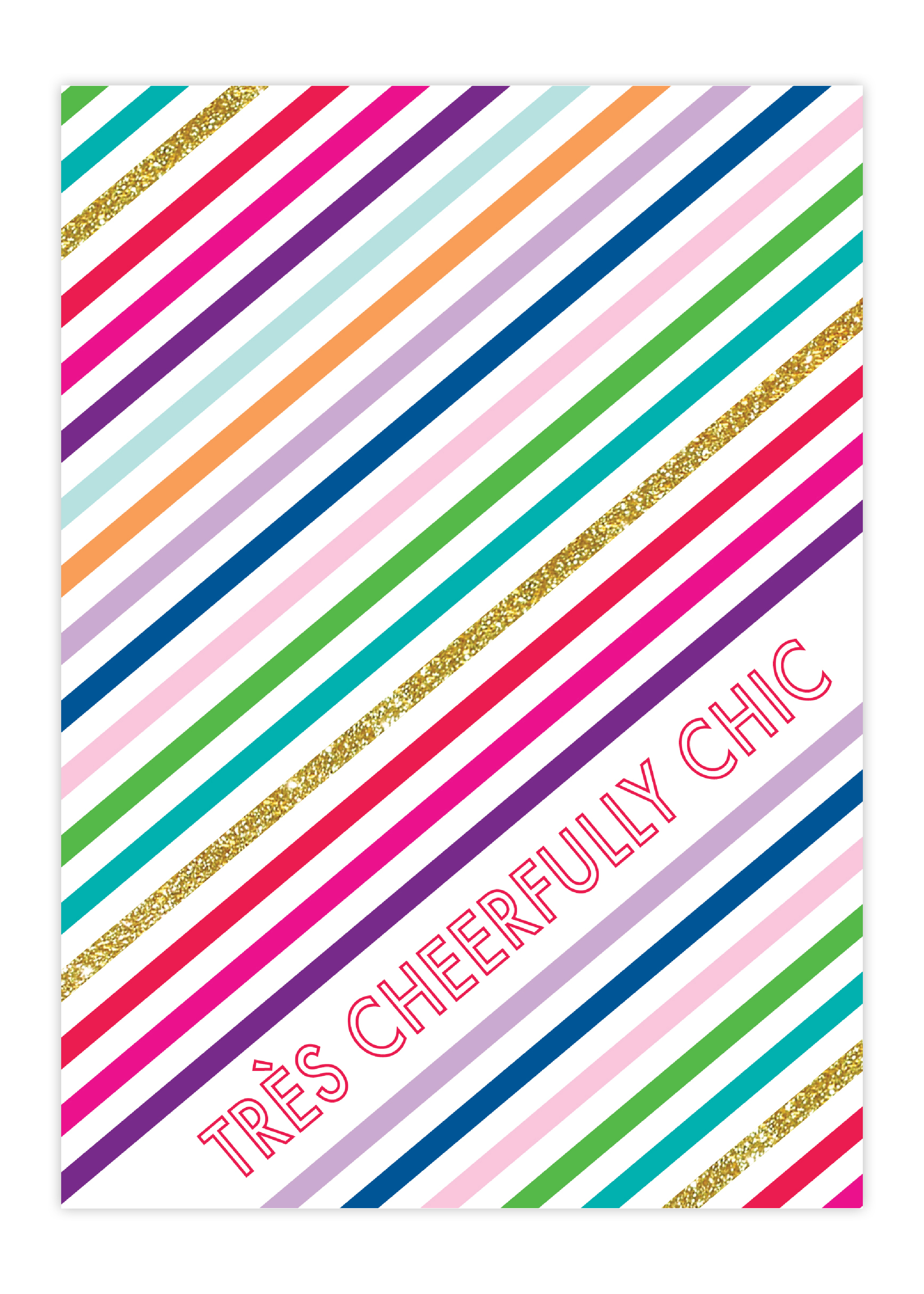 Tres Cheerfully Greeting Card