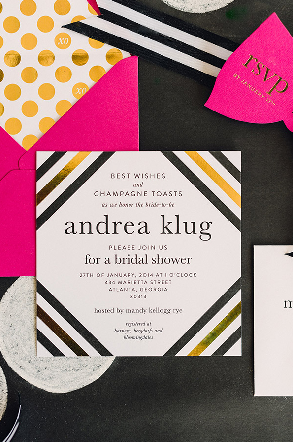 Waiting On Martha And Kate Spade Bridal Feature Abigail, Wedding Invitations