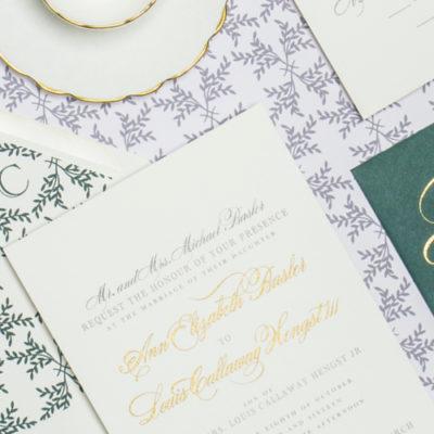 Annie and Cal Custom Wedding Invitation by Abigail Christine Design