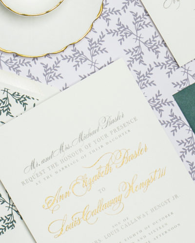 Annie and Cal Custom Wedding Invitation by Abigail Christine Design