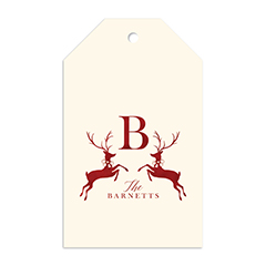 Prancing Reindeer Gift Tag