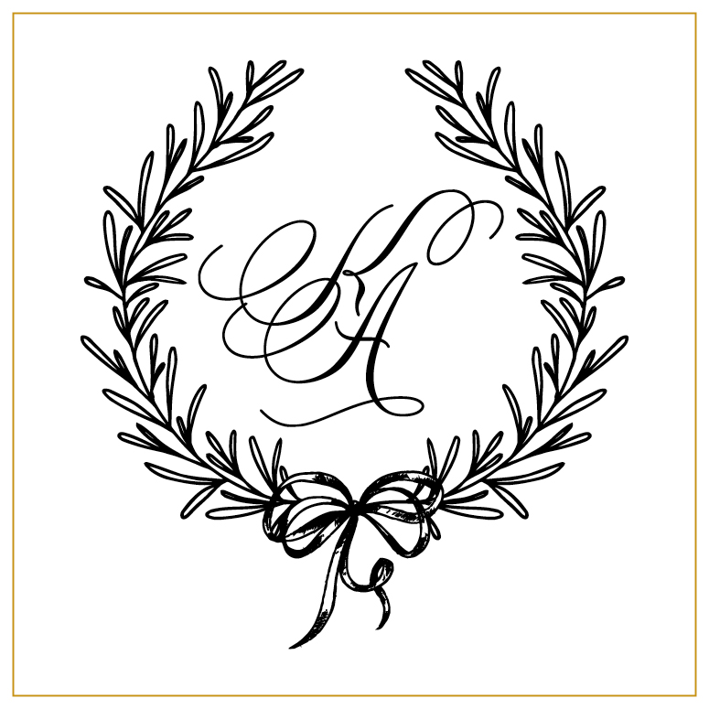 Kaitlin and Andrew Wedding Monogram
