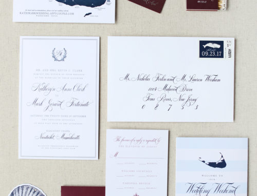 Kate and Mark's Nantucket Wedding Invitation