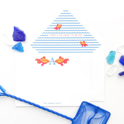 Kisses My Fishes Stationery