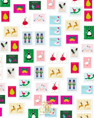 Christmas Gift Wrap Design.12 Days Christmas Gift Wrap Abigail Christine Design