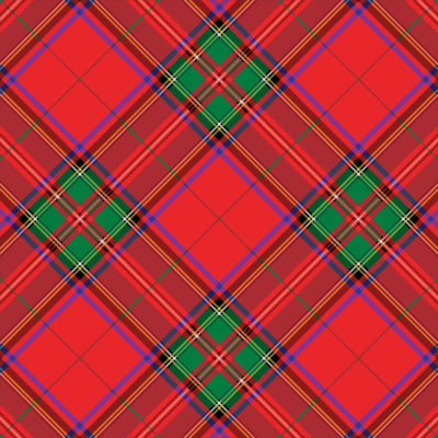 Red Tartan Plaid Gift Wrap