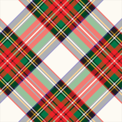 White Tartan Plaid Gift Wrap